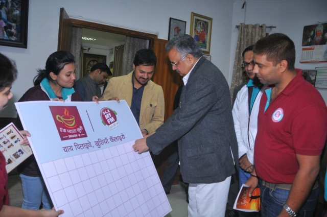 MY FM Team with Chief Minister of Chhatisgarh