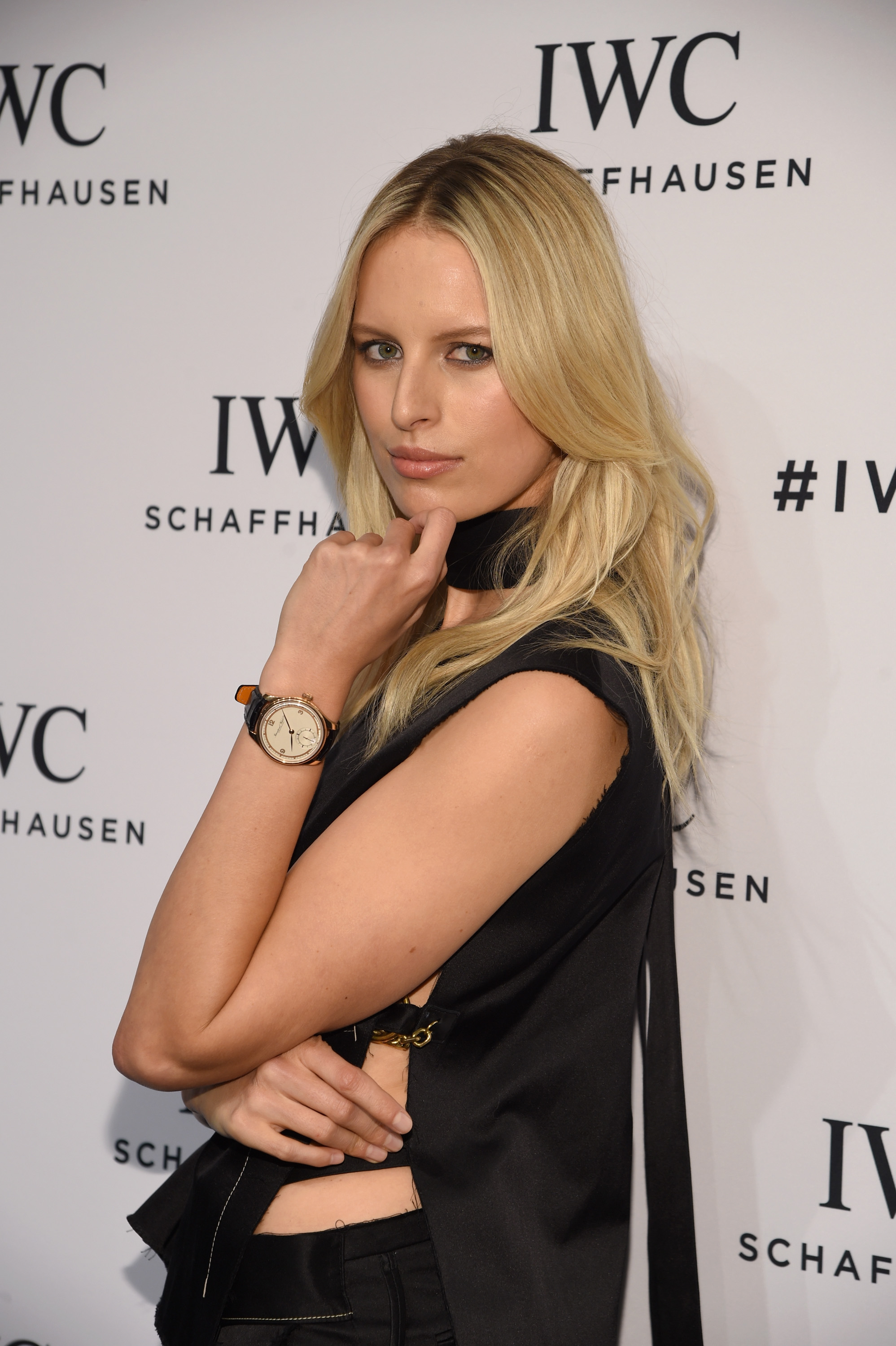 "HANDOUT – New York, USA, April 14: Supermodel Karolina Kurokova attends the exclusive gala event ""For the Love of Cinema"" during the Tribeca Film Festival hosted by luxury watch manufacturer IWC Schaffhausen, 14 April 2016, New York. (PHOTOPRESS/IWC/Getty Images)"