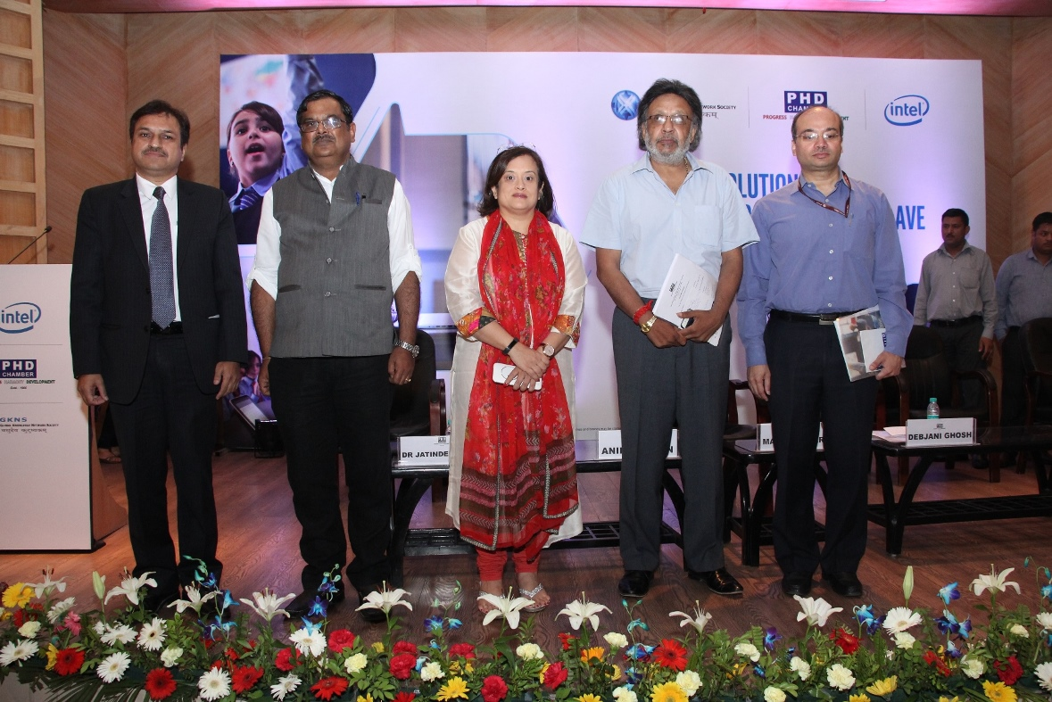 In this photo (L-R) Moderator; Mr. Amit Gupta  Chairman  Education Committee  PHD Chamber; Ms. Debjani Ghosh  Vice Pr_