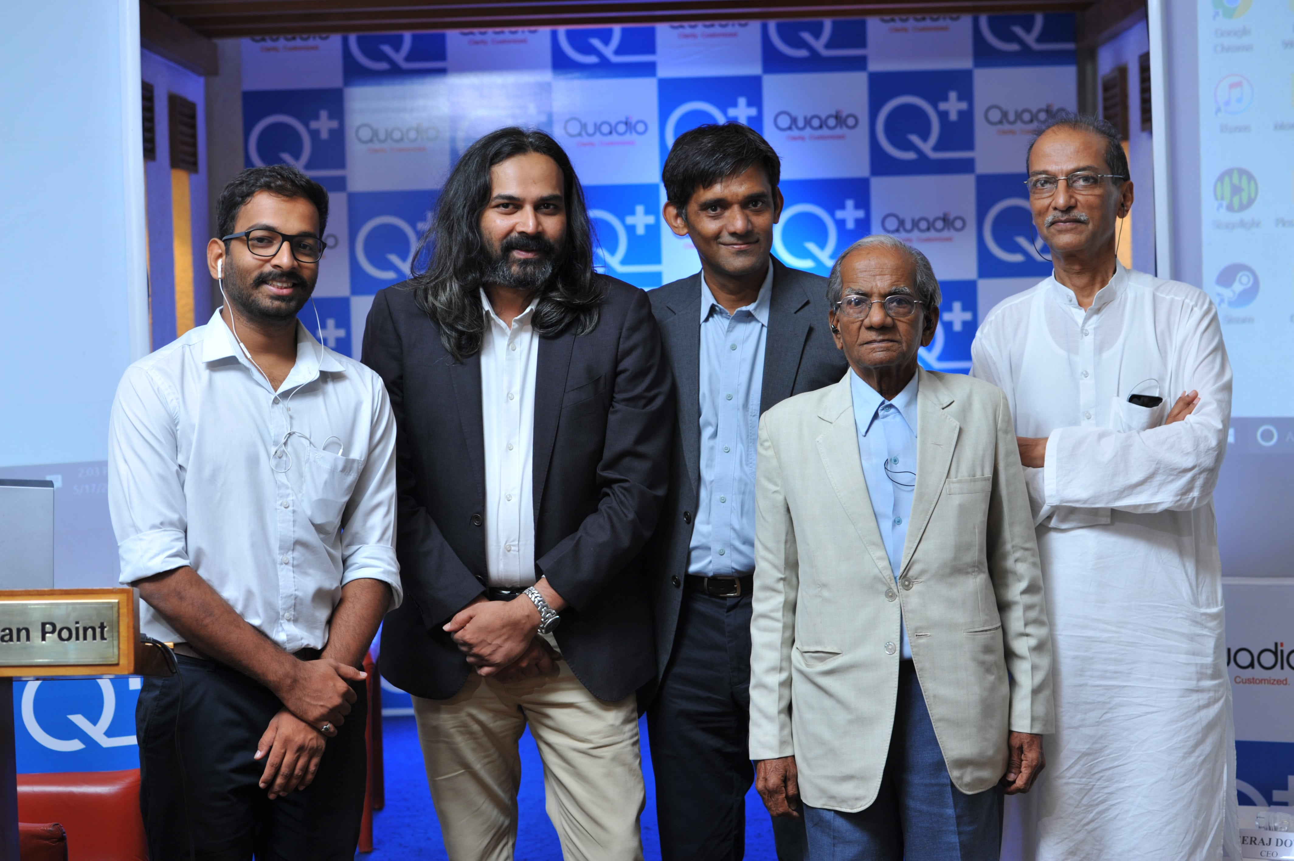 Patients with Neeraj Dotel  CEO_Anurag Sharma  Co-founder & CTO_Paresh Patel  Co-founder of Quadio Devices Pvt Ltd