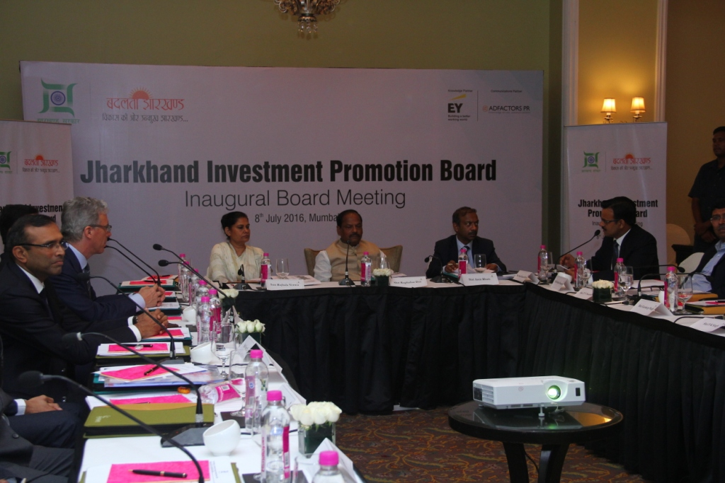 Jharkhand Investment Promotion Board's inaugural board meeting took place in M_