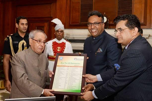 Presentation of the Asia Top 25 Universities to Hon'ble President