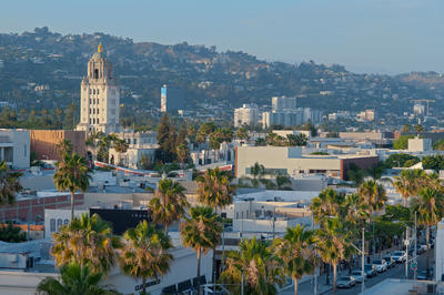 Beverly Hills Areal View