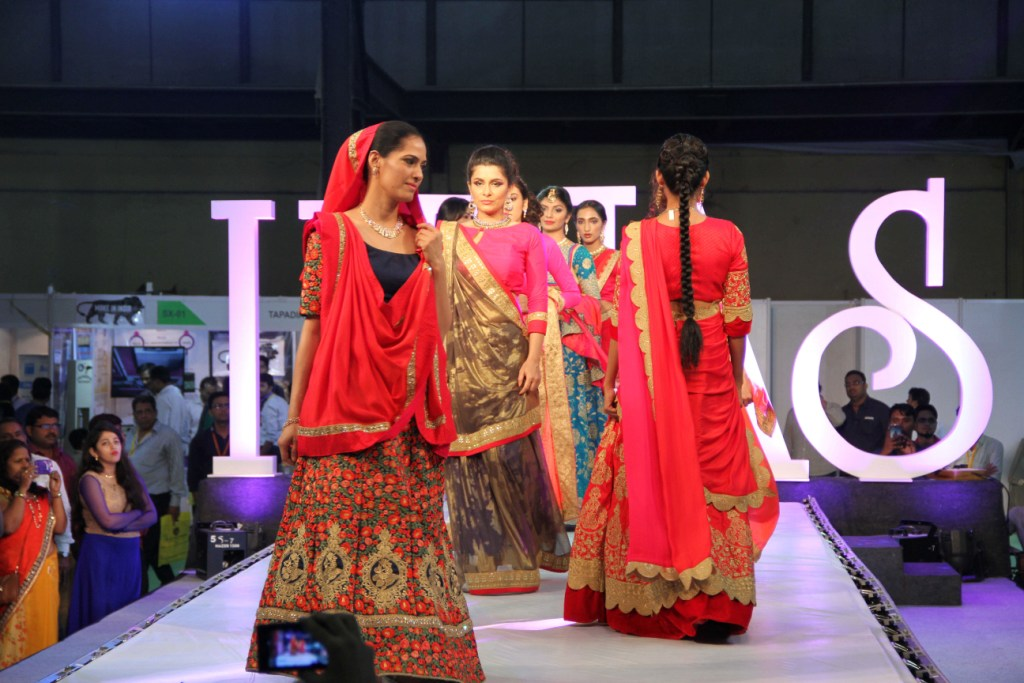 Models walking the ramp for Preciosa at IIFJAS Exhibition