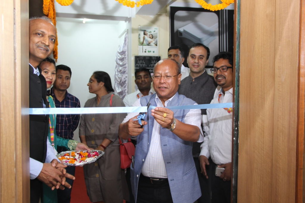 Mr. Prestone Tynsong  Hon'ble Minister for Community & Rural Development  Meghalaya inaugurating the first branch of _