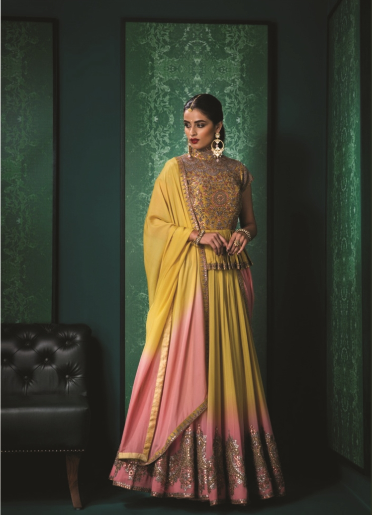 mustard-gold-silk-dupion-and-georgette-peplum-top-with-dyed-gota-and-zardozi-embellishment-by-designer-anuradha-and_