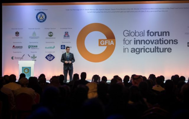 Global Forum for Innovations in Agriculture will examine ways to feed 520 million people in the MENA region by 2030; _